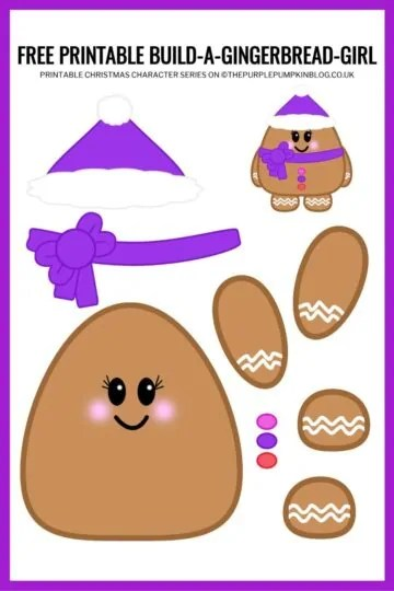 Build A Gingerbread Girl Printable