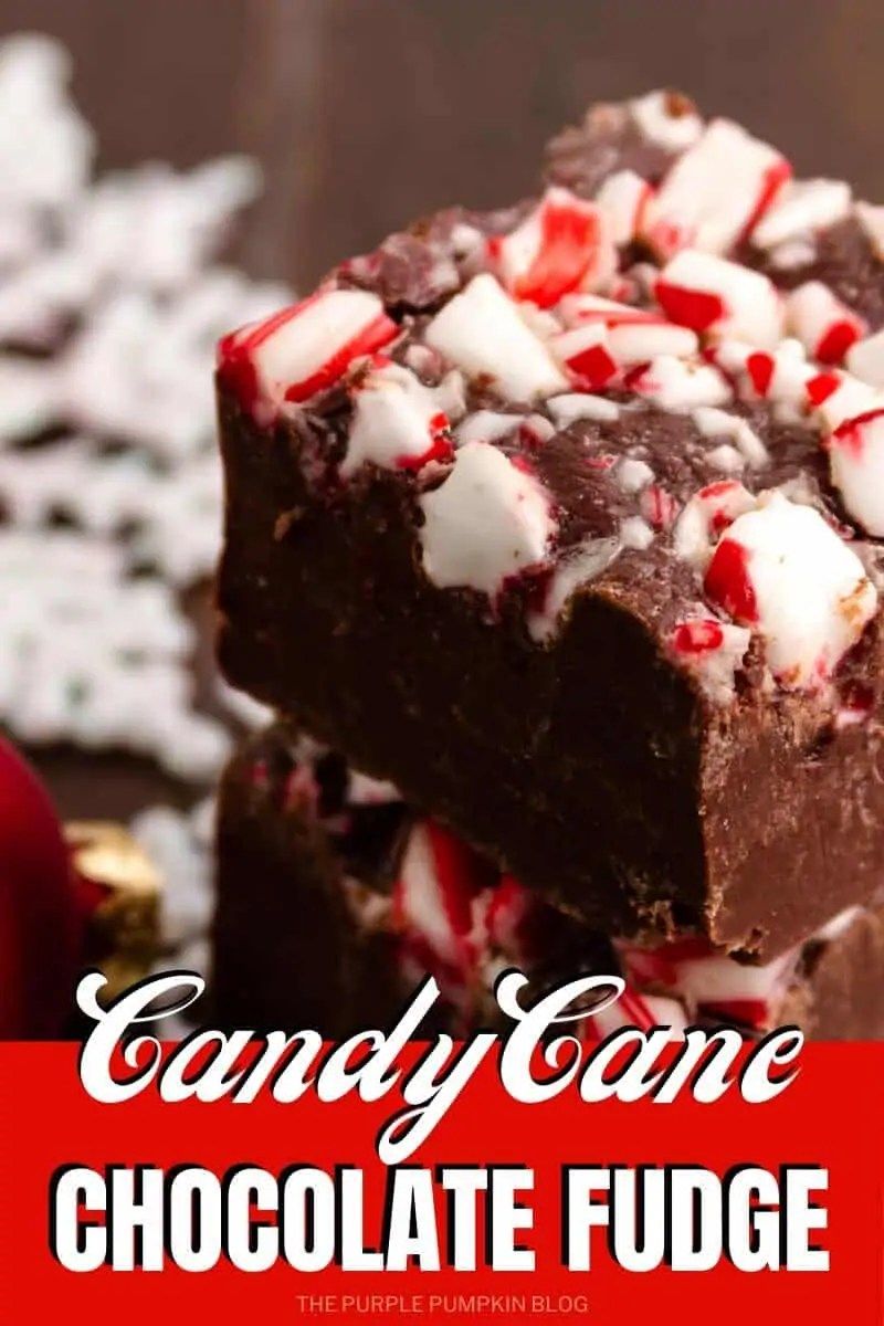 Candy Cane Chocolate Fudge