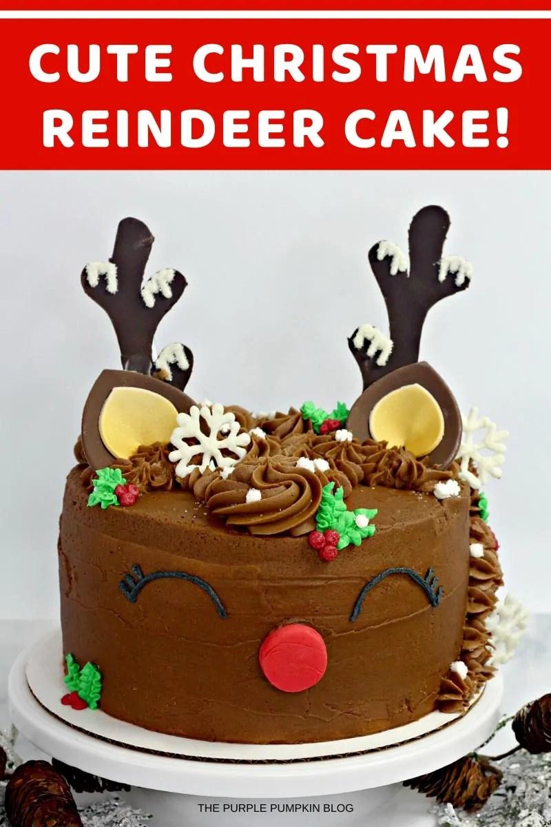 Cute Christmas Reindeer Cake