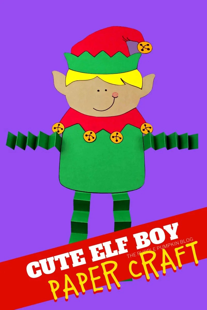 Cute Elf Boy Paper Craft