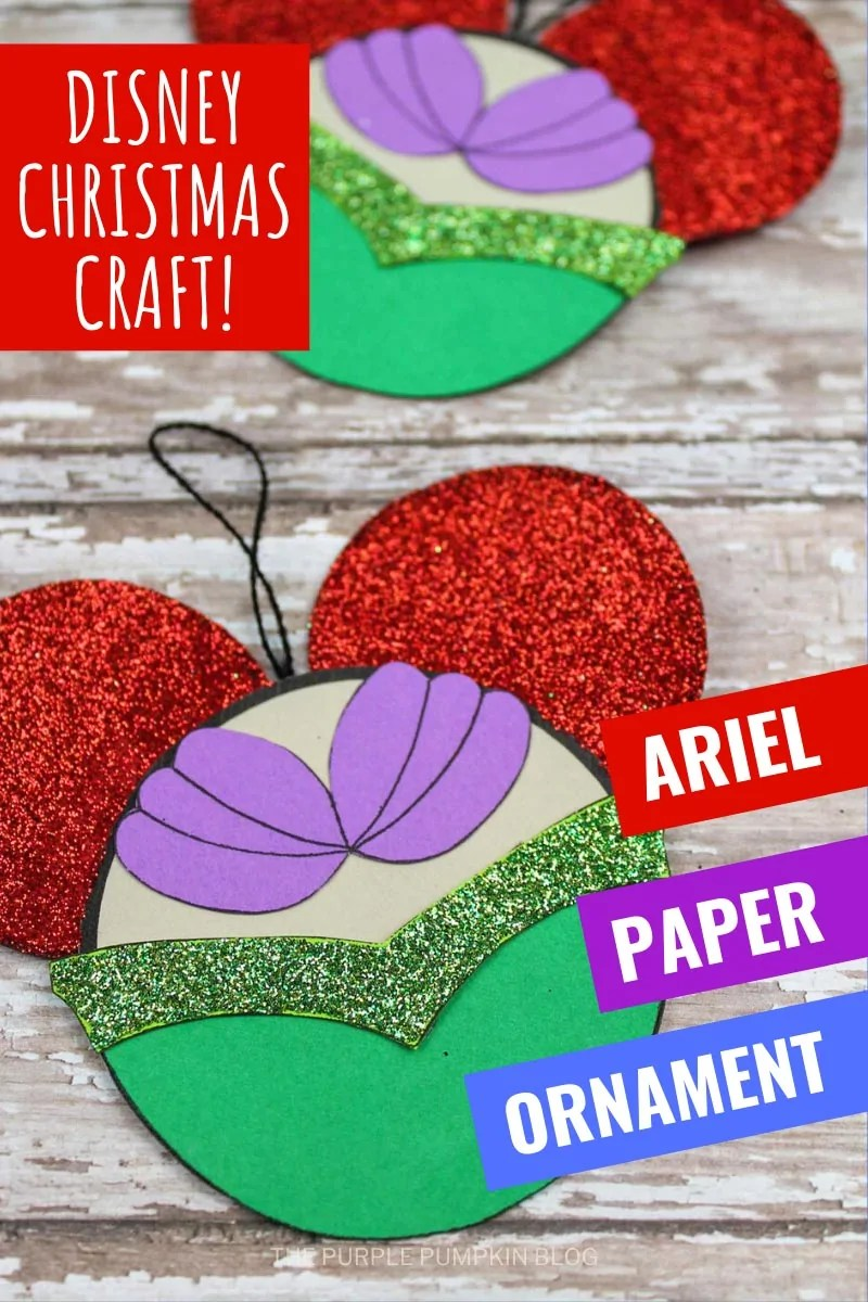 Disney Christmas Craft! Ariel Paper Ornament