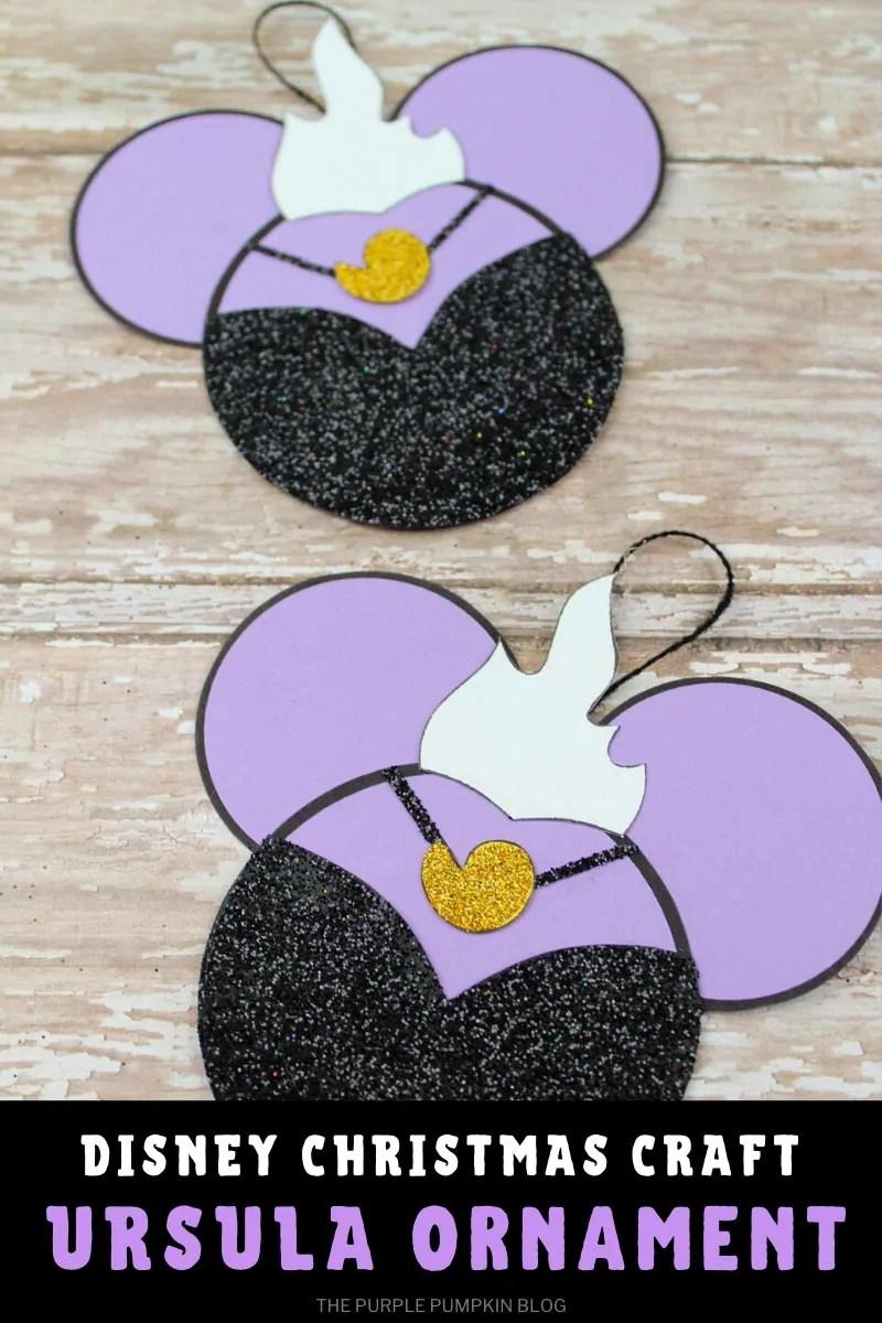 Disney Christmas Craft Ursula Ornament