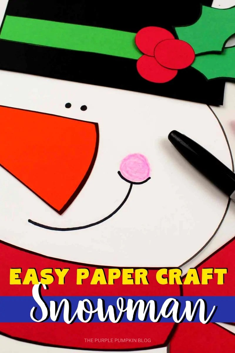 Easy Paper Craft Snowman