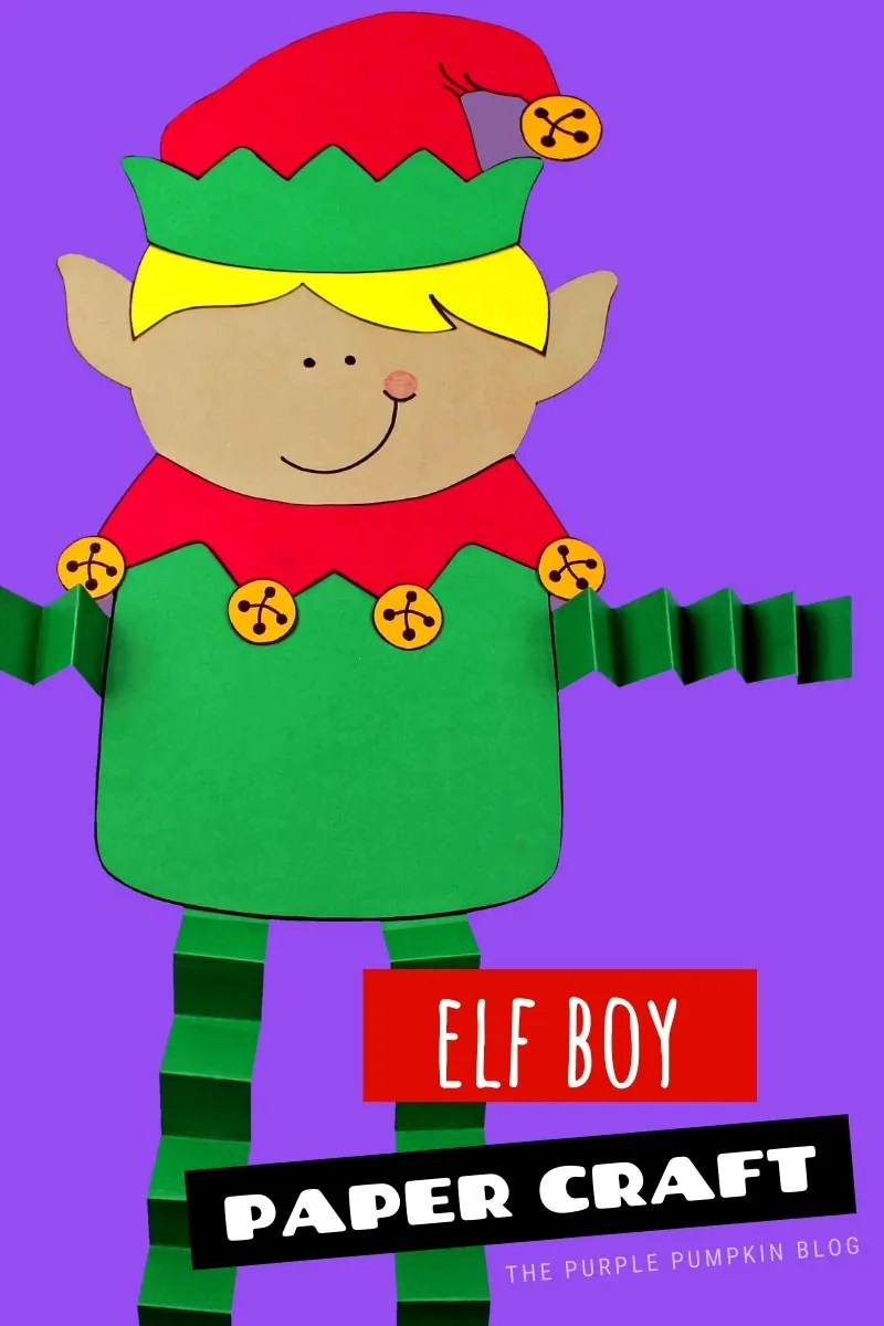 Elf Boy Paper Craft