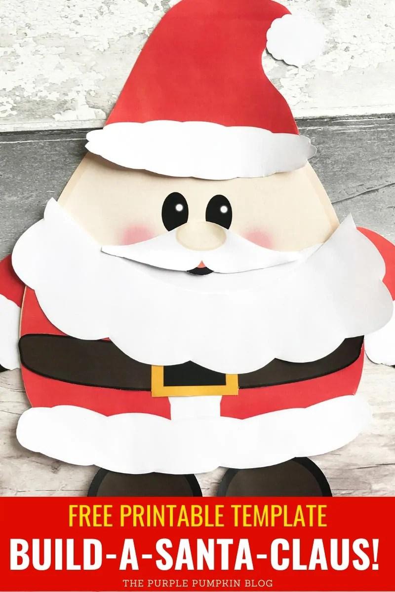 Free Printable Build A Santa Claus!