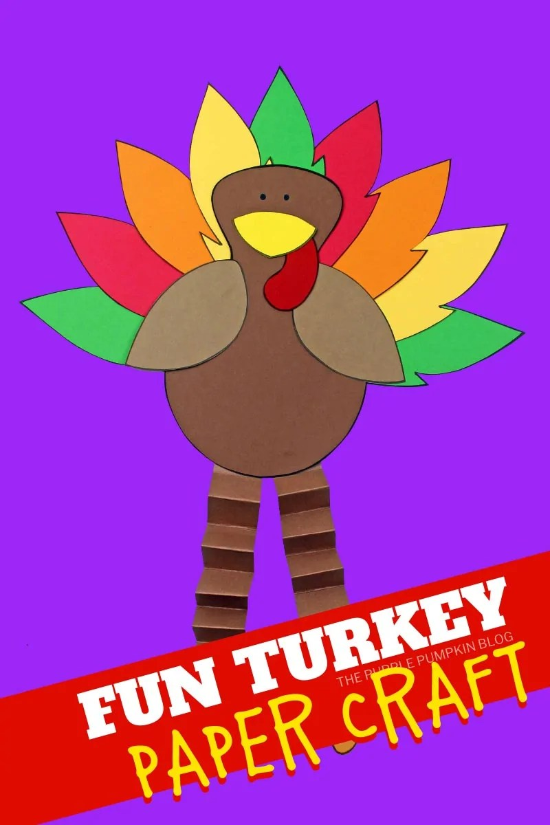 Fun Turkey Paper Craft