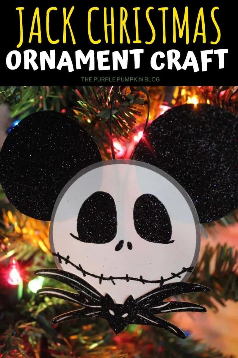 Jack Skellington Christmas Ornament Craft