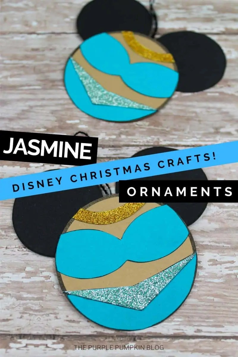 Jasmine Disney Christmas Crafts Ornaments