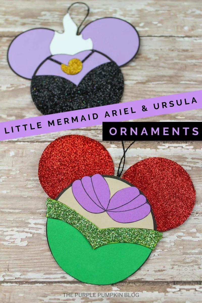 Little Mermaid Ariel & Ursula Ornaments