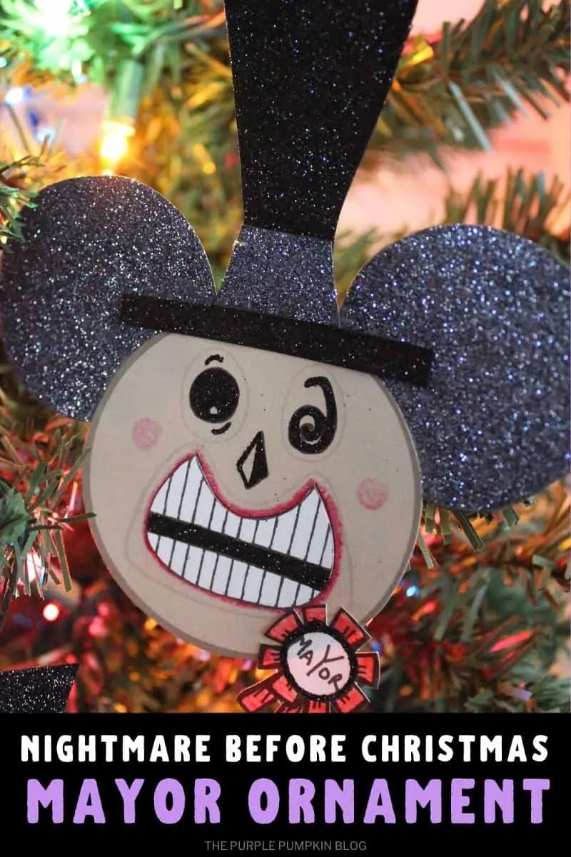 Nightmare Before Christmas Mayor Ornament