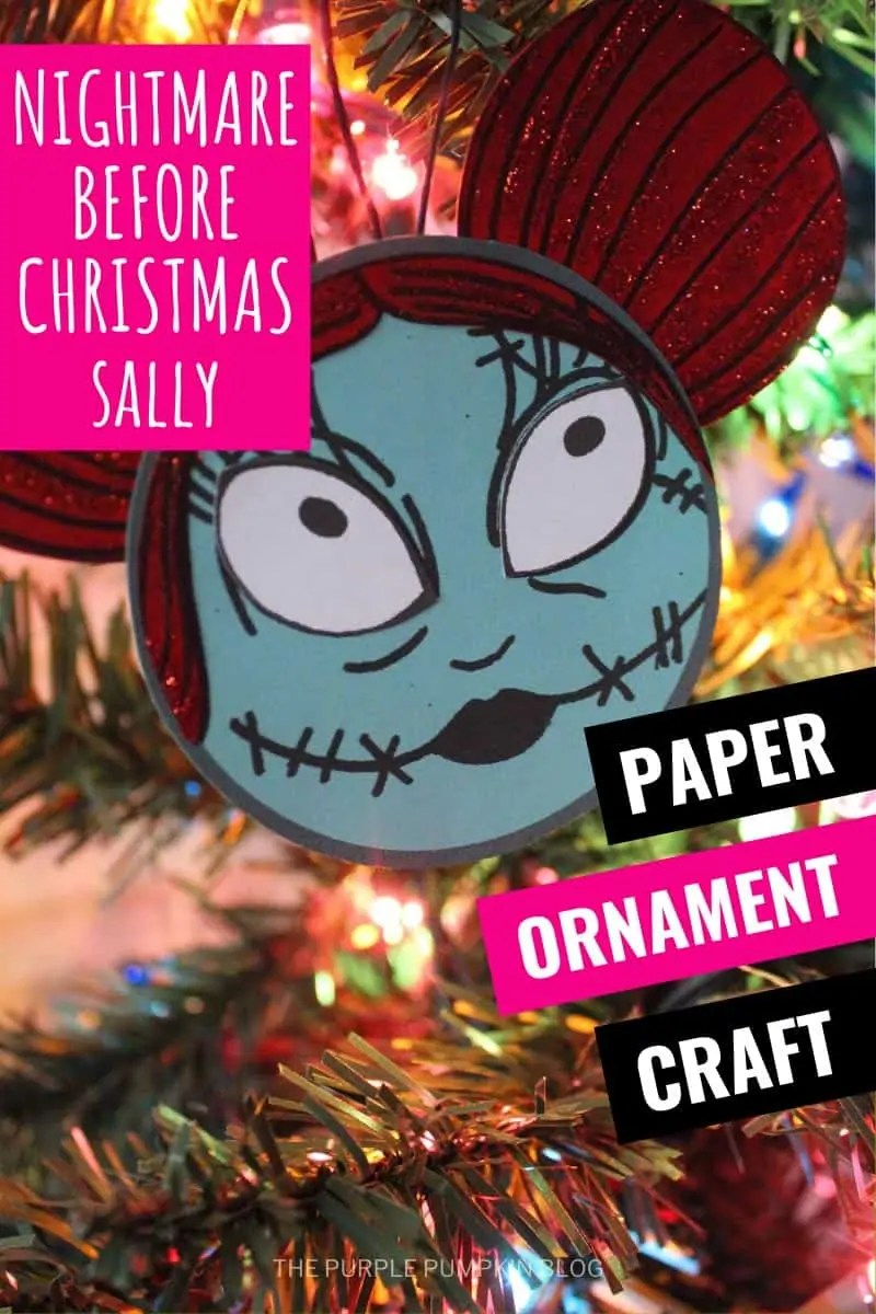 Nightmare Before Christmas Sally Paper Ornament Craft
