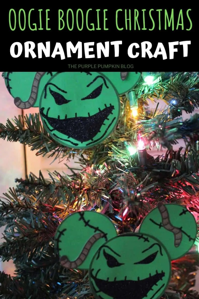 Oogie Boogie Christmas Ornament Craft