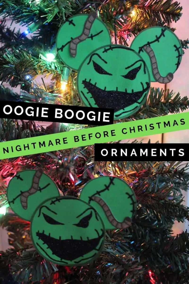 Oogie Boogie Nightmare Before Christmas Ornaments
