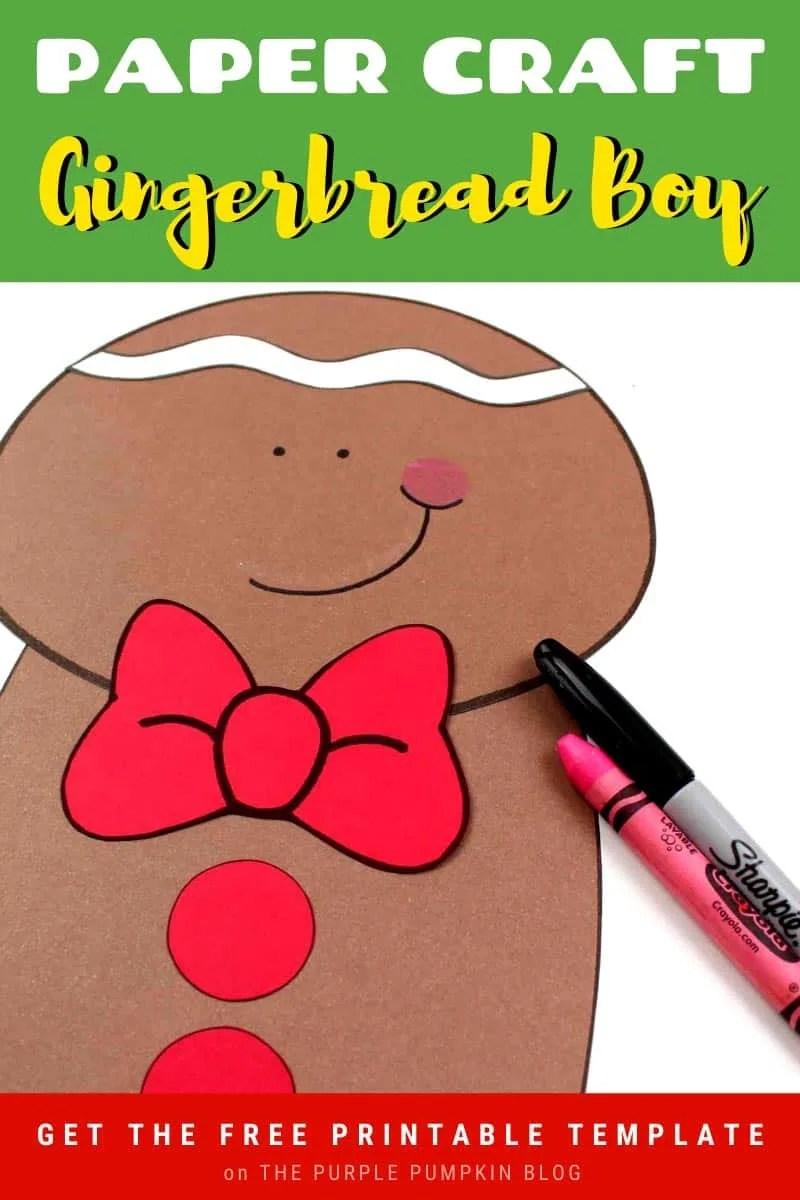 Paper Craft Gingerbread Boy
