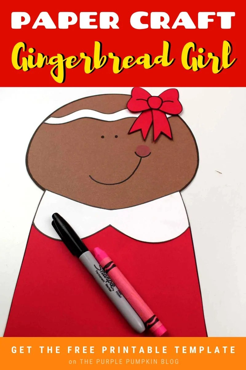 Paper Craft Gingerbread Girl Free Printable Template