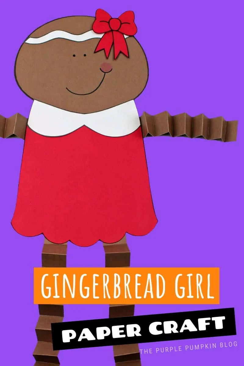 Gingerbread Girl Paper Craft