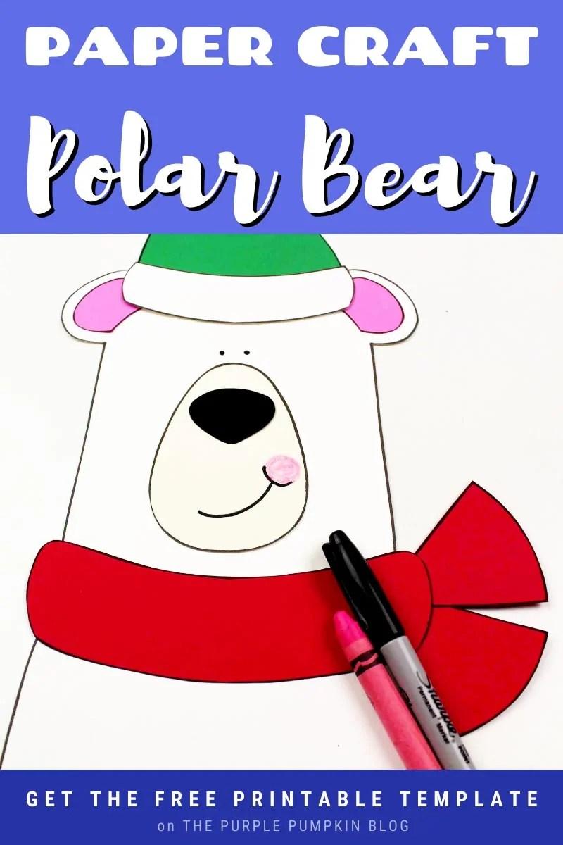 paper craft polar bear free printable template
