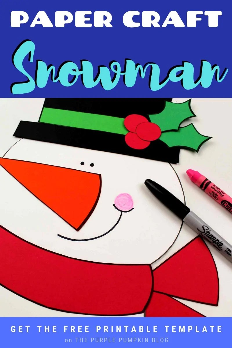 Paper Craft Snowman - Free Printable Template