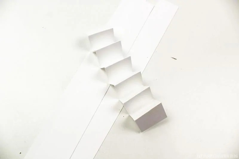 accordion folded white paper