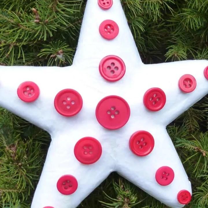 Button Star Ornament Craft