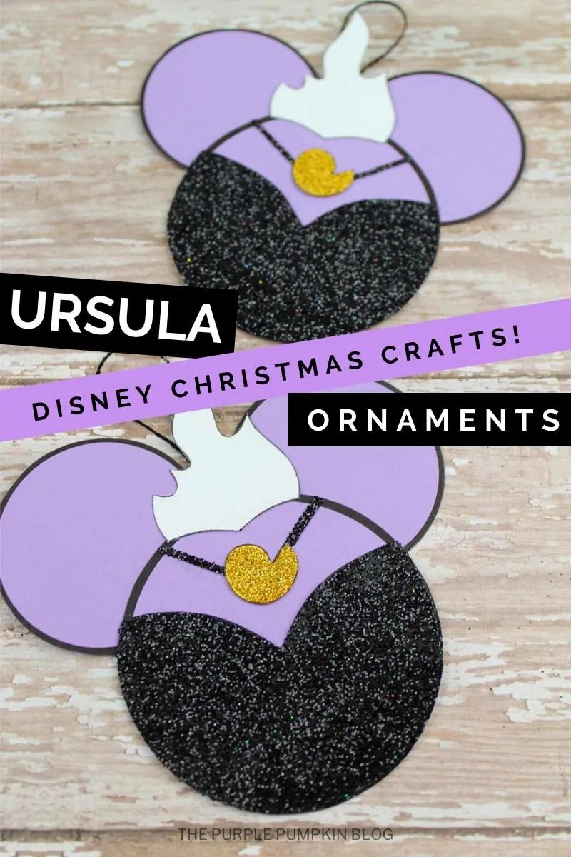 Ursula Disney Christmas Crafts Ornaments