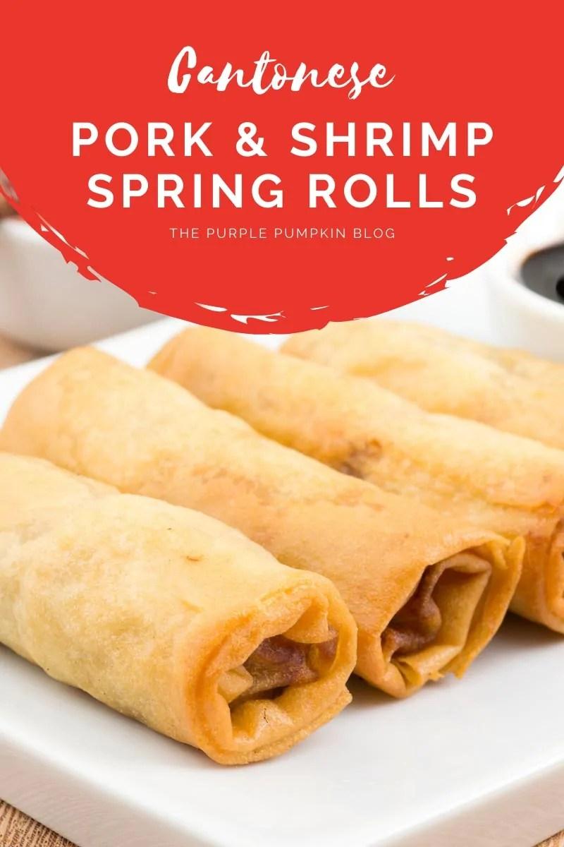 Cantonese Pork & Shrimp Spring Rolls