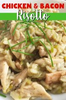 Chicken Bacon Risotto (Close Up)