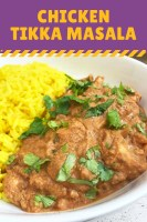 Chicken Tikka Masala with yellow rice