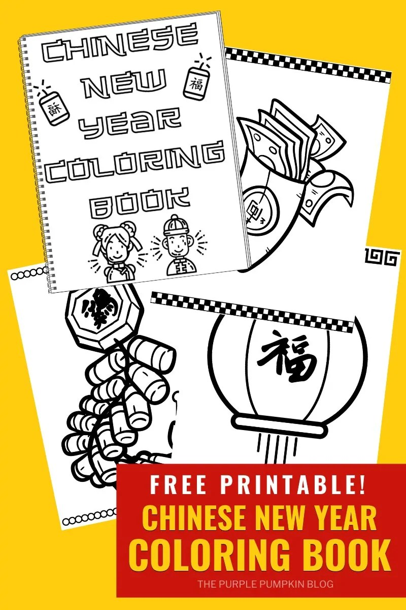 Free Printable Chinese New Year Colouring Book