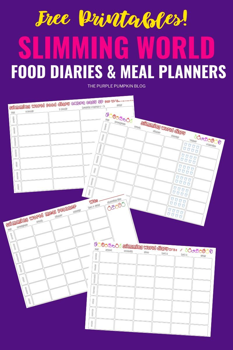 Slimming World Food Diaries & Meal Planners