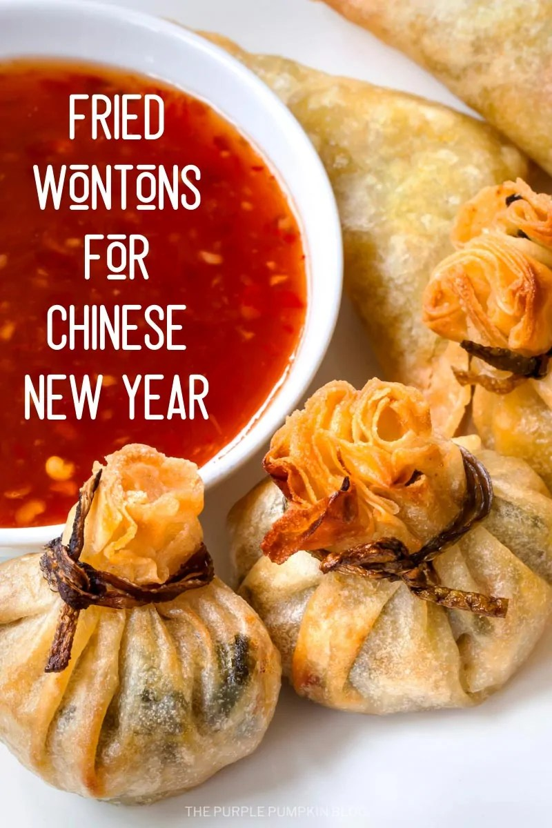 Fried wontons for Chinese New Year