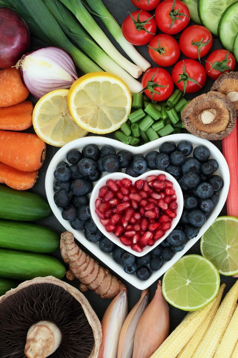 Healthy foods - fruit and vegetables