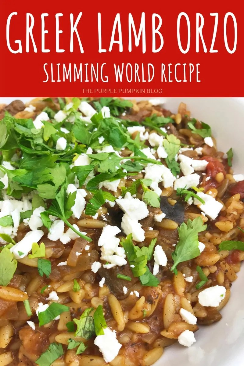 Greek Lamb Orzo Slimming World Recipe