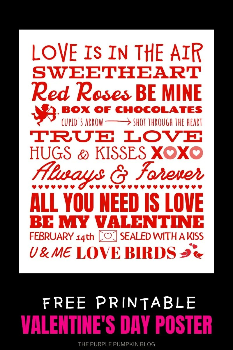 Red Valentine's Day Poster