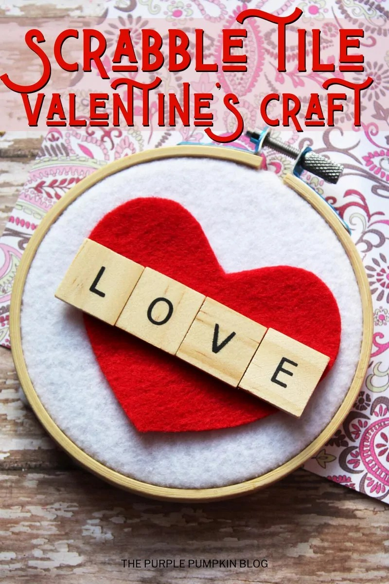 Scrabble Tile Valentine's Craft