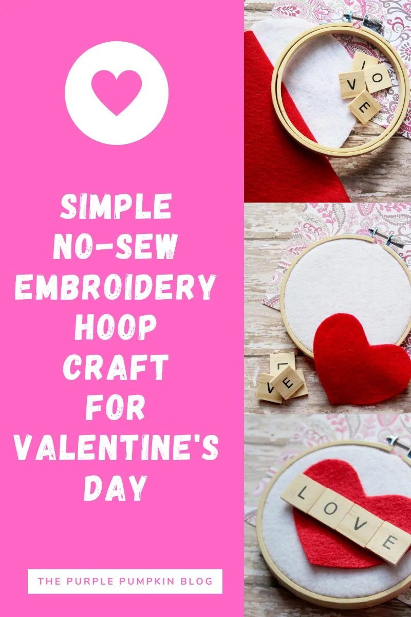 Simple No-Sew Embroidery Hoop Craft for Valentine's Day
