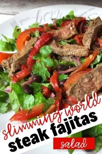 Slimming World Steak Fajitas Salad
