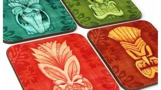 Tiki Coasters, set of four