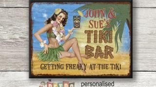 Personalised Retro Style Tiki Sign