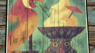Retro Disney Wood Art Enchanted Tiki Room