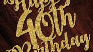 Happy 40th Birthday Glitter Topper