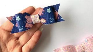Handmade Peppa Pig Bows