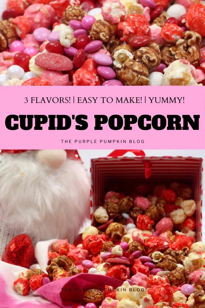 3 Flavors! Easy To Make! Yummy! Cupid's Popcorn