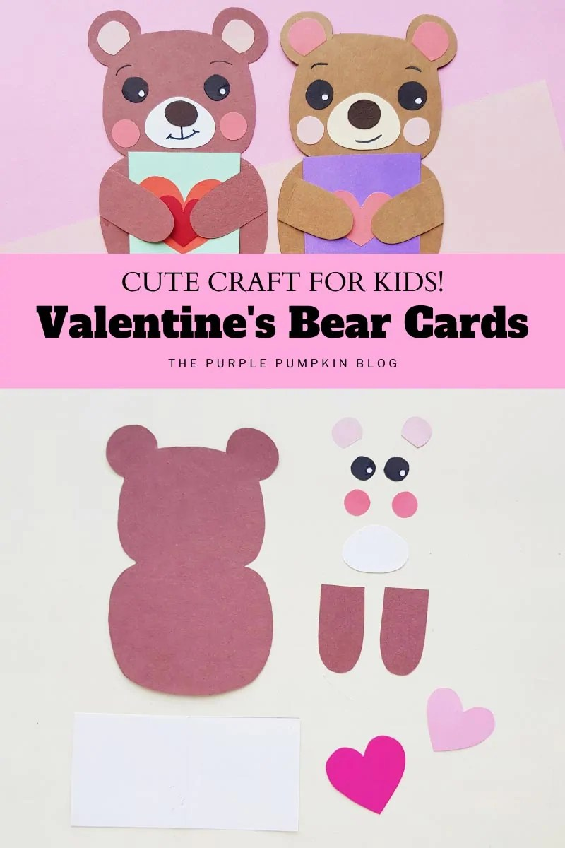 Cute Craft for Kids! Valentine's Bear Cards