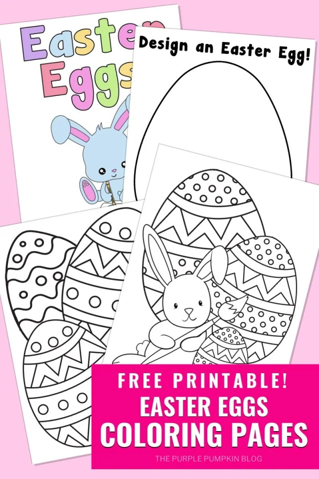 Easter Eggs Coloring Pages To Print for Free!