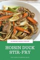 Slimming World Recipe Hoisin Duck Stir Fry