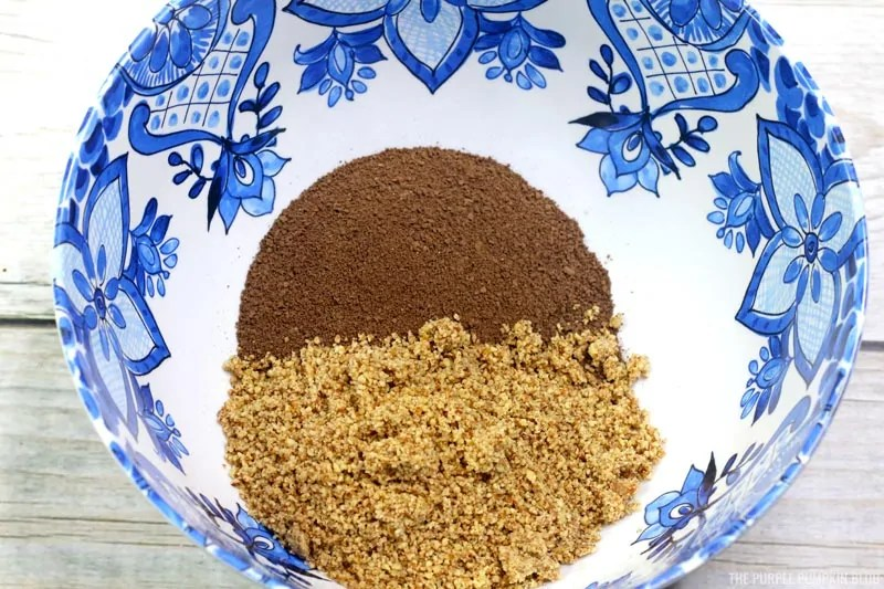 Bailey's Truffles Process Pic - ground pecans and cracker crumbs