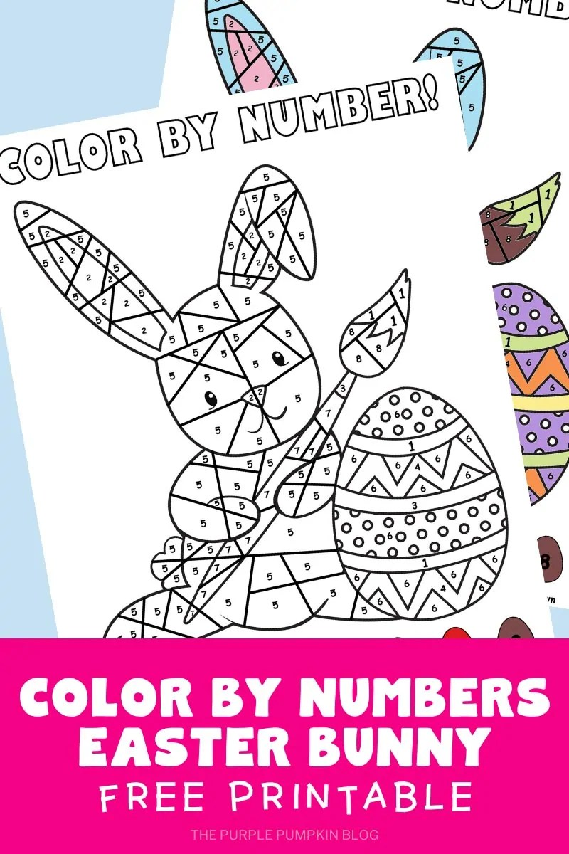 Color By Numbers Easter Bunny Free Printable