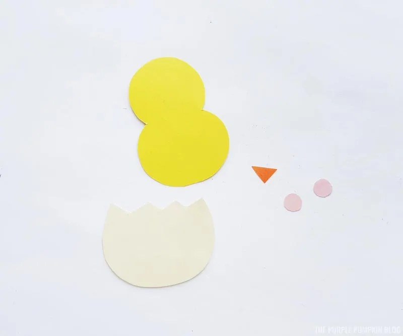 Easter Chick Paper Craft Step 1