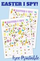 Easter I Spy Free Printable